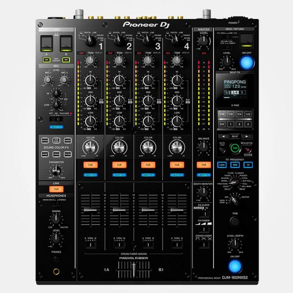 Pioneer DJM-900NXS2 4-kanaals digitale pro-DJ mixer