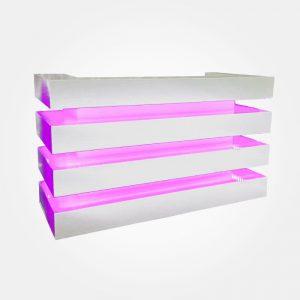Vierkante-witte-DJ-Booth-met-LED-verlichting