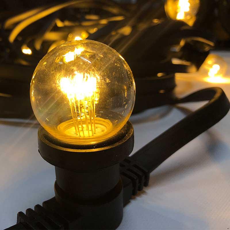 prikkabel 10 meter 10 warm witte led lampen huren entertainit. Black Bedroom Furniture Sets. Home Design Ideas