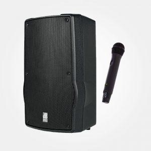 accu speaker + microfoon huren